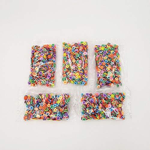Panamami 1000 Teile/Satz Verschiedene Schleim Scheiben DIY Handwerk Dekorationen Obst Scheiben Schleim Machen Lieferungen für Weichen Ton & Nail Art - Multicolor -