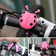 Idea Regalo - ROMOR Campanell Bicicletta Campana per Campanello per Bicicletta in Lega di Alluminio Scarabeo Adorabile Mini Cartoon Coccinella Anello Campanello per Ciclismo Bicicletta Giro Allarme Corno @ Giallo