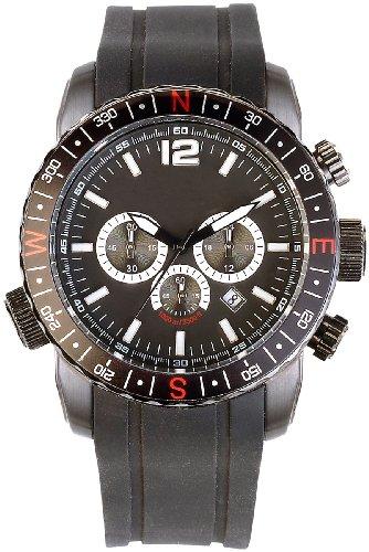 Semptec Urban Survival Technology Taucheruhr mit Chronograph bis 100 atm wasserdicht, schwarz