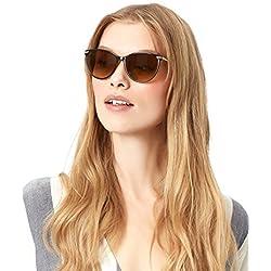 Accessorize Damen Natalie Flat-Top-Sonnenbrille mit Metallbesatz - Einheitsgröße