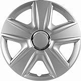 CTE Universal Radzierblende Radkappe Silber 15 Zoll für viele Fahrzeuge passend