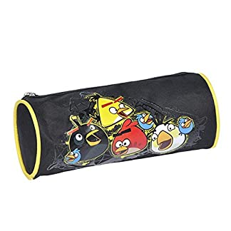 Estuche escolar Angry Birds redonda negra