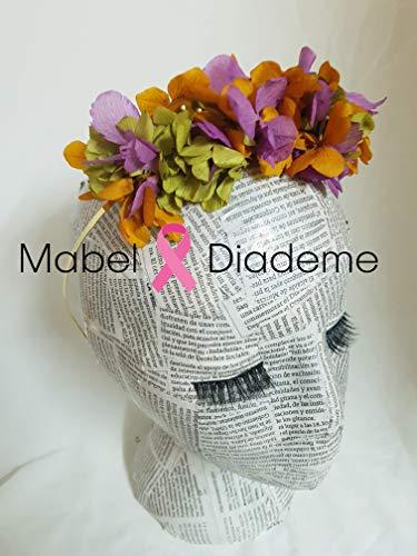 5882d602e Mabel Diademe diadema flores preservadas bodas eventos novia invitada  coctel tocados bodas novia accesorio pelo