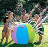 Great Gift For Kids ! Inflatable Water Fountain Ball ! Streams Of Water From All Sides ! \ Garden Outdoors Pools Hot Tub Swimming Creative Kiddie Slide Tube Game Toys Play Childrens Child Boys Girls Outdoor Swim Toddler Backyard Ring Floats Cool Friends Swim Activity Social Group Summer Unique Special Party Birthday Garden Patio Development Gift Bouncers House Jumper Water Slide Bouncy Funny Lawn Slip Waterslides Sprinkler Pool Loungers - 742741174502 - amazon.co.uk