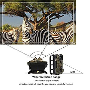 2018 Upgraded Crenova Trail Camera 12MP 1080P HD Wildlife Camera with 120° Wide Angle 65ft Detection Range 42 Pcs 940nm Updated IR LEDs Night Version for Wildlife Monitoring & Home Security&Hunting