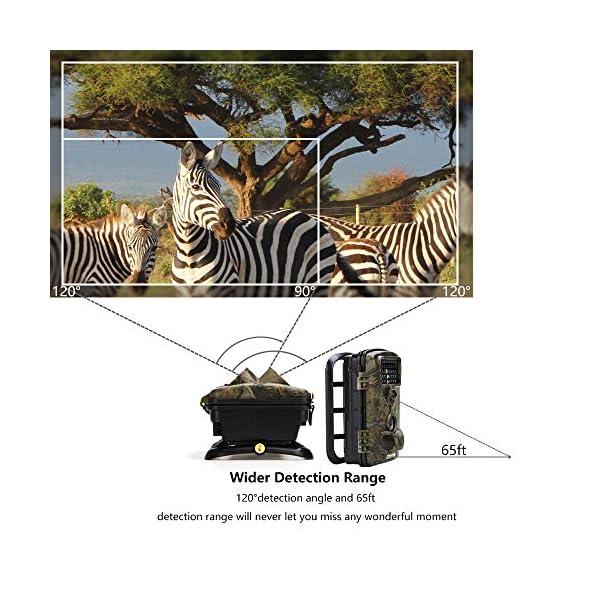 "Crenova 12MP 1080P HD Infrared Game&Trail Camera 42 Pcs IR LEDs 120¡ãWide Angle Night Vision 2.4"" LCD Display Waterproof Hunting Scouting Camera Digital Surveillance Camera"