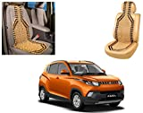 Auto Pearl - Premium Quality Car Wooden Bead Seat Cover For - Mahindra KUV 100 - Set of 1Pcs