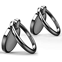 aceyoon Finger Ring Stand Holder 2 Pack Zinc Alloy Universal Phone Finger Grip Kickstand Support 360¡ã Rotation for iPhone 7 Plus 6 6S 5 5C 5S, Samsung Galaxy S8 S7 Edge
