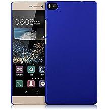 Prevoa ® 丨 Oriignal Hard PC Funda Cover Case para Huawei Ascend P8 5.2 pulgada Android Smartphone + Protector de Pantalla - Azul Oscuro