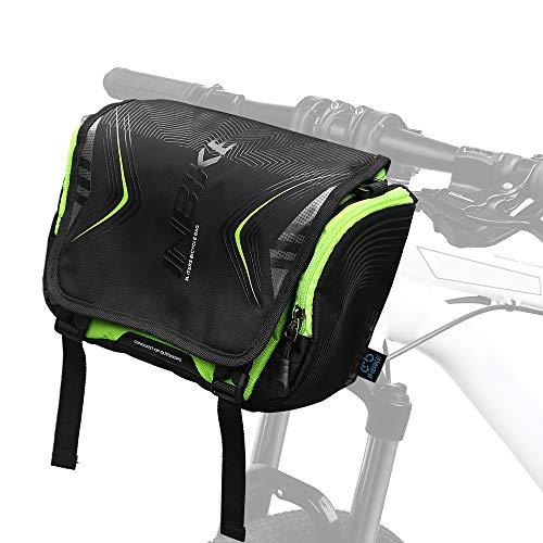 Fahrrad Fronttasche mit wasserdichter Abdeckung Sicherheit Radfahren Tasche große Kapazität Fahrradkorb t Pouch Männer Schultertasche zum Reiten Pendeln Angeln Wandern