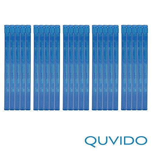 25 QUVIDO Blu-Ray Hüllen Blau Double / 2 Blu-Rays / 11mm