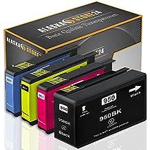 4xCartuchos de tinta Compatible para HP 950XL 951XL HP 950 951 XL 950 XL 951 XL Alta capacidad para su uso en HP Officejet Pro 8600 8610 8620 8630 8640 8660 8615 8616 8625 8100 8110 251dw 271DW 276dw e-All-in-One, CN048AN CN046AN CN045AN CN047AN con nuevos Chips