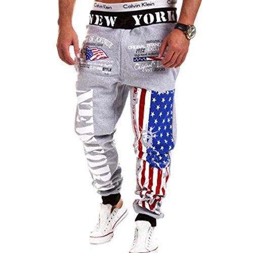 WTUS Estate Tendenze Moda Uomo Sport Casuale Pantaloni nero Della Tuta Harem Pants Grigio