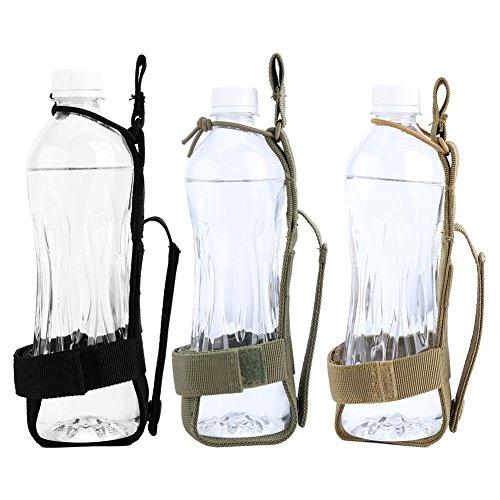 Outdoor Sport Wasserflasche Beutel Nylon Wasserflaschenhalter Gürtel zum Wandern Radfahren Camping Khaki