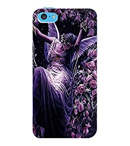 ColourCraft Beautiful Angel Design Back Case Cover for APPLE IPHONE 5C