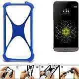 K-S-Trade Handyhülle LG Electronics G5 Silikon Schutz Hülle Cover Case Bumper Silikoncase TPU Softcase Schutzhülle Smartphone Stoßschutz, blau (1x)