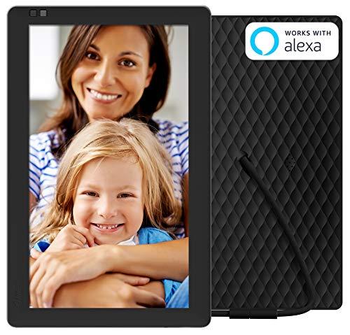 NIXPLAY Seed WLAN Digitaler Bilderrahmen 10 Zoll Breitbild W10B. Fotos & Videos per App oder Email an den Elektronischen Fotorahmen übertragen. IPS Display. Auto On/Off Funktion (Hu-Motion Sensor)