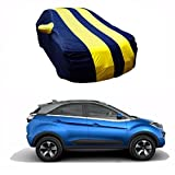 #6: MotRoX Sporty Yellow Stripe Car Body Cover For Tata Nexon (Water Resistant and Triple Stiched-GN)