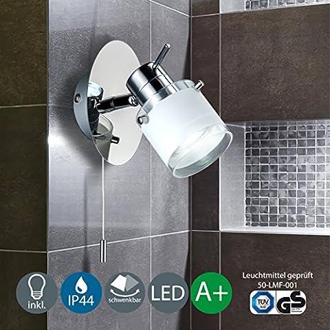B.K.Licht Applique murale à LED pour salle