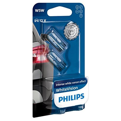 Philips 12961NBVB2 WhiteVision Xenon-Effekt W5W Autolampe, Doppelblister (Vw Jetta Wagon Zubehör)