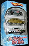 Hot Wheels 2008 Targe Exclusive Holiday Hot Rods 3-Pak: Volkswagon Battle, 47' Chevy Fleetline, Cstom '53 Chevy