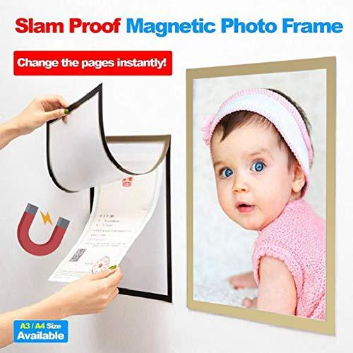 Hunpta@ Magnetische Fototaschen, Magnetischer Bilderrahmen, Magnete Fotos Rahmen Bilderrahmen Collage für Kühlschrank,trockenes Löschen Pinnwände, Schule Locker, Datei Schrank, Werkzeugkoffer -