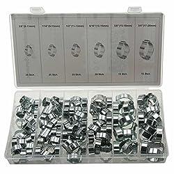 2-Ohr-Klemmen Universal MINI 2 Ohr Schlauchschellen//Klemmschellen-Set//Spannbereich 11-13 mm Leitungsschellen-Satz Schlauchklemmen-Sortiment 10-tlg. Zweiohrschellen