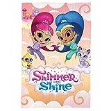 Fleece-Decke/Überwurf für Kinder, Mädchen, Jungen, mit Disney/Marvel-Figuren, Shimmer & Shine, 100 x 150 cm