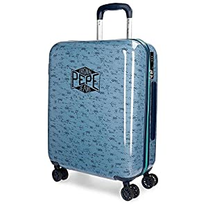 Pepe Jeans Pierce Equipaje de Mano, 55 cm, 38 litros, Azul