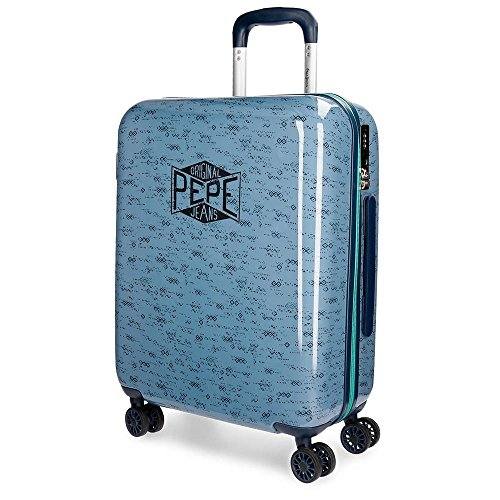 Pepe Jeans Pierce Blue Rigid Cabin Trolley