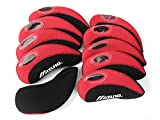 Best Adams golf bag - mizuno golf Iron Covers 10pcs/set black/red Review