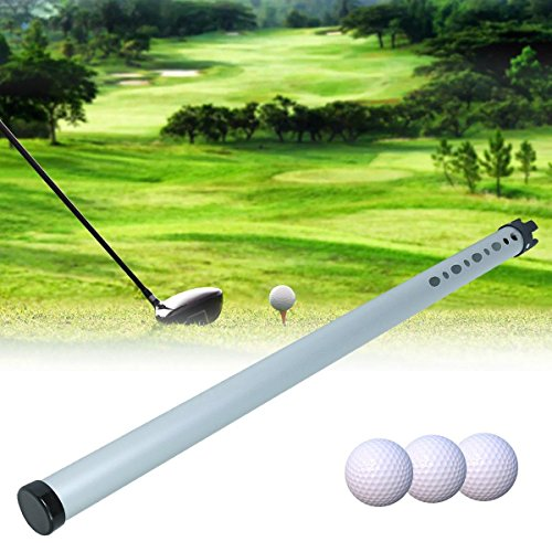 Anddod Portable Outdoor Aluminum Golf Ball Picker Sports Practice Shagger Pick-Ups Tube