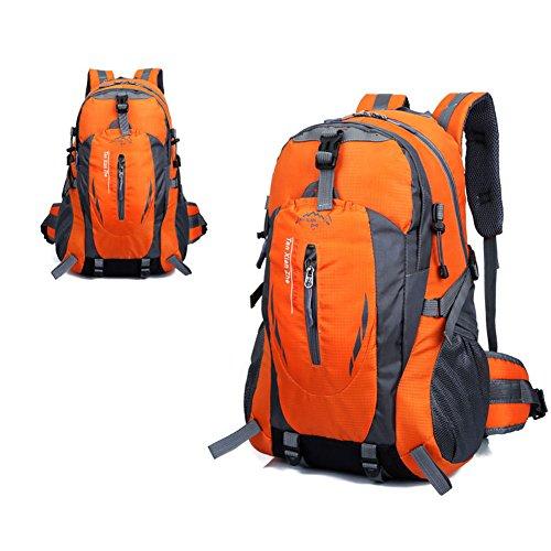1x-Wasserdicht-Nylon-Trekkingrucksack-Rucksack-Tasche-fr-Sport-Outdoor-Camping-Orange