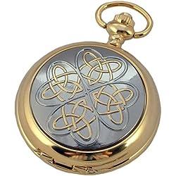 A E Williams Men's Celtic Knot Mechanical Pocket Watch Gp4945Sk
