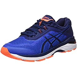 Asics GT-2000 6, Zapatillas de Entrenamiento para Hombre, Azul (Imperial/Indigo Blue/Rose Shocking Orange 4549), 44.5 EU
