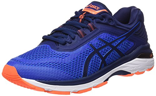 Asics GT-2000 6, Chaussures de Running Homme, Bleu (Imperial/Indigo Blue/Rose Shocking Orange 4549), 44.5 EU