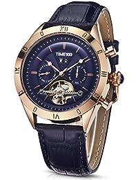 48fb3c3e6b66 Time100 Reloj Hombre Pulsera Reloj mecánico automático Resistente al Agua  ...