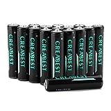 Creabest 1000mAh Ricaricabili AAA Ni-MH Batterie ,1200 Cicli, Confezione Da 16 Pezzi
