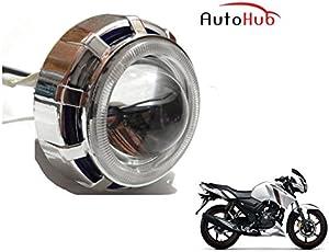 Auto Hub COB LED Projector Bike Headlight for TVS Apache RTR 160