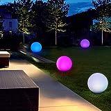 40cm Wasserdichte Kugelleuchte für Außen, LED Kugel-Lampe Innen, Gartenkugel Aussenlampe Leuchtkugel Stimmungsleuchte mit Farbwechsel, Fernbedienung und 16 Einstellbar RGB Farben Test
