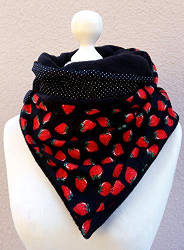 Loop Fleece Erdbeeren Punkte -