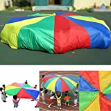 USUN Children/Child Rainbow Parachute Outdoor Game Exercise Sport Toy for Outdoor and Indoor Group Sports (2M)
