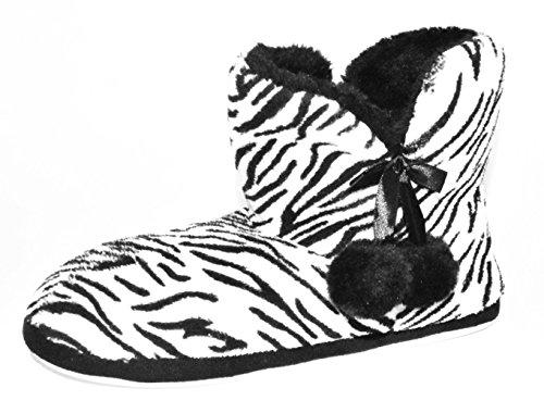BTS, Pantofole donna nero / bianco
