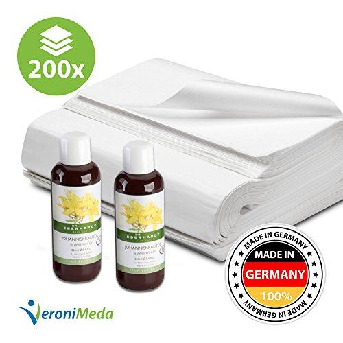 Dorn Breuß SparSet M (2x250ml BIO Johanniskrautöl + 200 Blatt Seidenpapier im Set)