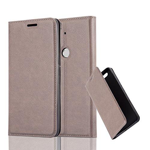 Cadorabo Coque pour Huawei Nexus 6P en Marron CAFÉ - Housse Protection avec Fermoire Magnétique, Stand Horizontal et Fente Carte - Portefeuille Etui Poche Folio Case Cover