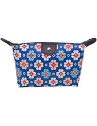 Blue : Parateck Zipper Closure Waterproof Makeup Bag Cosmetic Pouch Travel Bag Tote For Women Girls (Blue)