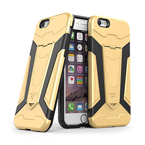 Cover iPhone 6s Custodia iPhone 6 Hard Anfire Belt Clip Holster Kickstand Case Cover per iPhone 6 / 6s (4.7 Pollici) Ultra Sottile Liscio Opaco Antiurto Protettivo Bumper Paraurti Rugged Adatta Shell  Giallo