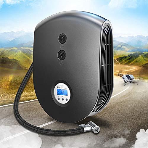 Auto-Luftpumpe Reifen Inflator Kompressor 12V Auto-Luftkompressor-Pumpen-LED-Licht-aufblasbare Pumpe für Notfall im Freien, 2019 neu,Black (Auto-starter-reifen-inflator)