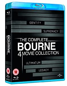 The Complete Bourne 4 Movie Collection [Blu-ray] [2002] [Region Free]