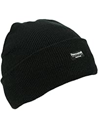 Men's Fleece Lined Woolly Winter Beanie Unisex Knitted Hat